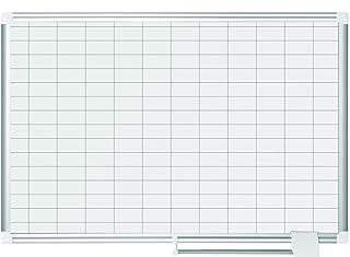 Bi-Office - Pizarra de Planificación Magnética New Generation, 90x60cm, Planning Con Cuadrículas 25x50 mm