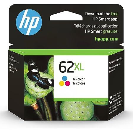 HP 62XL   Ink Cartridge   Tri-color   Works with HP ENVY 5500 Series, 5600 Series, 7600 Series, HP OfficeJet 200, 250, 258, 5700 Series, 8040   C2P07AN