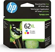 Original HP 62XL Tri-color High-yield Ink | Works with HP ENVY 5540, 5640, 5660, 7640 Series, HP OfficeJet 5740, 8040 Seri...