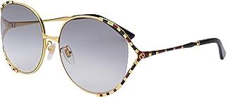 نظارات شمسية من جوتشي GG 0595 S- 002 ذهبي/ رمادي