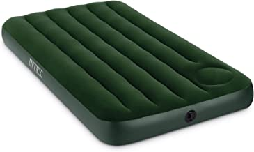 Intex Downy Airbed with Built-in Foot Pump, Twin, Green, 39