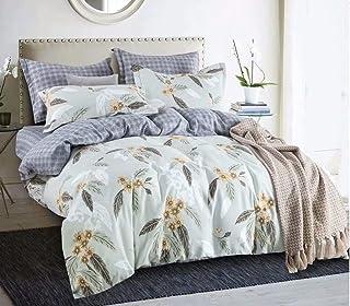 Kingsize Bedsheet 6pcs One Set High Cotton Quality Bedding Set Duvet Cover (46)