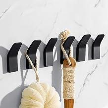 Zelfklevende handdoekhaken, zonder boren, roestvrij staal, zelfklevend, voor keuken en badkamer, 6 stuks