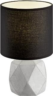 Reality, Lampe de table, Pike 1xE14, max.40,0 W Tissu, Noir, Corps: Beton, Couleur beton Ø:16,0cm, H:28,0cm IP20,Interrupt...