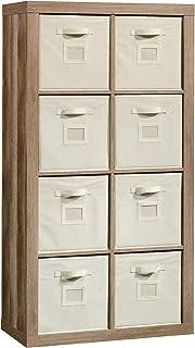 Sauder 421965 Stow-Away 8-Cube Organizer, Lintel Oak Finish