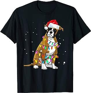 Boxer Christmas T-Shirt Boxer Dog Christmas Shirt Gift