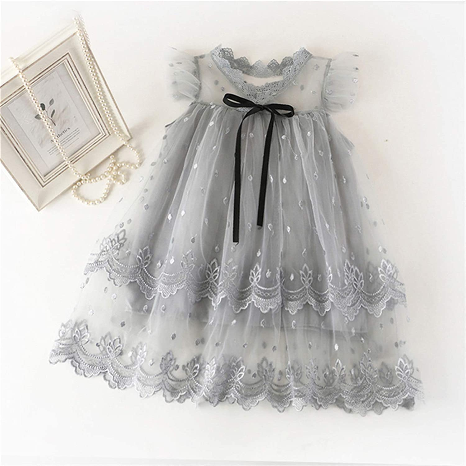 Comfortable and Exquisite Dress Princess Girls Dress Girls Clothes Children Clothing Summer Party Tutu Kids Dresses for Girls Toddler Girls Casual Dress 3 8T (Color : Style 10 Gray, Kid Size : 3T)