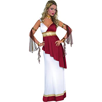 Costume Dea Greca in Velluto Large Bianco WIDMANN WDM5614G