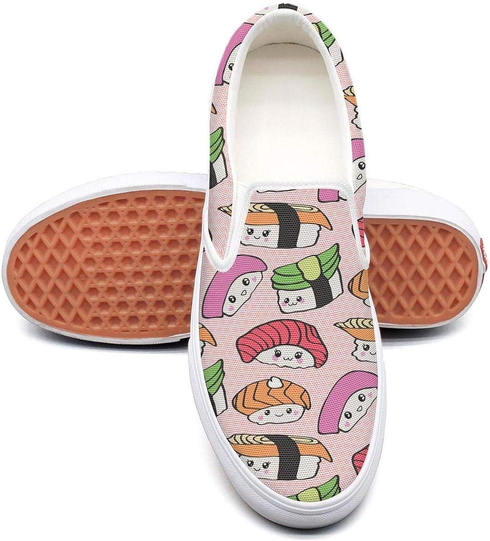 Uieort Cute Food Kawaii Cartoon Womens Slip On Canvas shoes Fashion