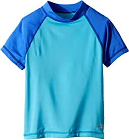 Speedo Kids - Short Sleeve Color Block Rashguard (Big Kids)