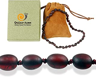 100% True Baltic Necklace (Raw Cherry - 12.5 Inches) – 100% Authentic Baltic Beads with Highest Quality