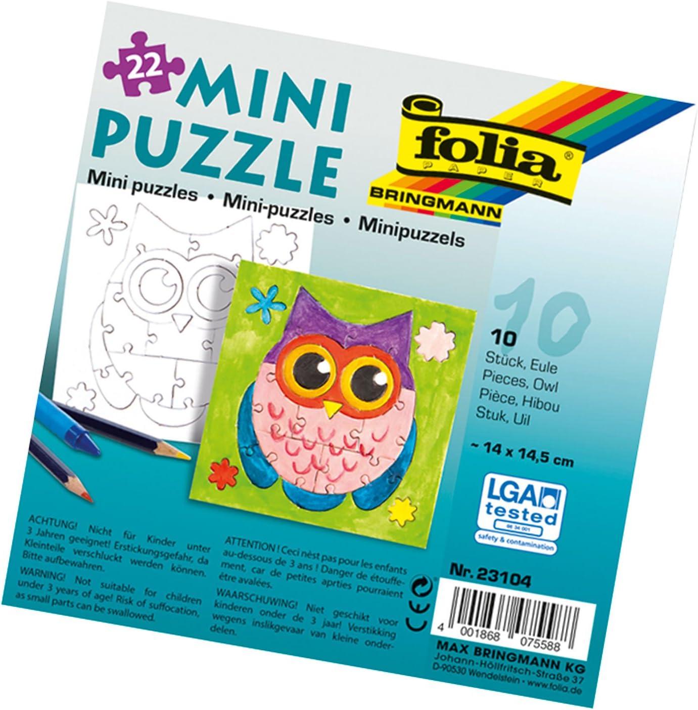folia 23104Mini Puzzle Owl 2020 14x 10W 22Pack 売買 14.5cm of Set