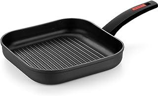 Monix Titan - Grill con Rayas 28 cm, aluminio forjado con antiadherente reforzado con titanio, full induction