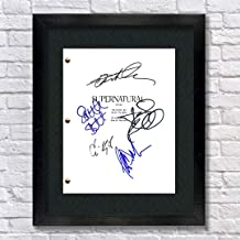 Supernatural TV Show Cast Autographed Signed Reprint 8.5x11 Script Framed 13x15 Jensen Ackles Jared Padalecki Misha Collins Jeffrey Dean Morgan Mark Sheppard
