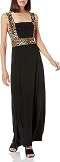 فستان Star Vixen نسائي طويل بدون أكمام بإطار متعدد الألوان