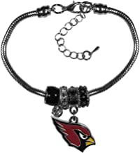 NFL Siskiyou Sports Womens Arizona Cardinals Euro Bead Bracelet One Size Team Color