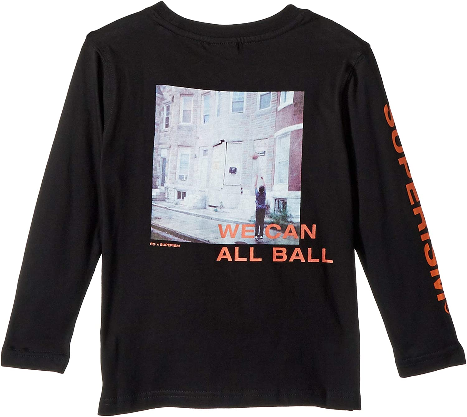 SUPERISM Mens All Ball Long Sleeve Graphic Tee (Toddler/Little Kids/Big Kids)