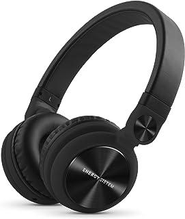 Energy Sistem Headphones DJ2 Black Mic (Auriculares Estilo DJ, Flip-Up Ear Cups, Removable Cable, Control Talk, Foldable)