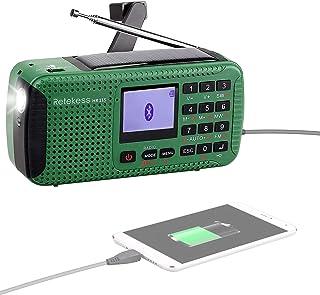 Retekess HR-11S Portable Radio Solar Emergency Solar Hand Crank Radio AM FM Shortwave Radio Generator Wireless MP3 Player ...