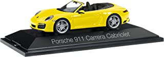 Porsche 911 (991/2) Carrera Convertible, yellow, 0, Model Car,, Herpa 1:43