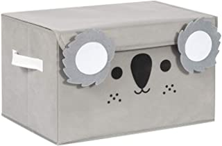 Katabird Storage Bin for Toy Storage, Collapsible Chest Box Toys Organizer with Lid for Kids Playroom, Baby Clothing, Children Books, Stuffed Animal, Gift Baskets, Gray Koala