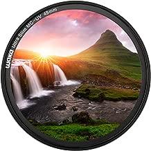 waka 49mm MC UV Filter - Ultra Slim 16 Layers Multi Coated Ultraviolet Protection Lens Filter for Canon Nikon Sony DSLR Camera Lens