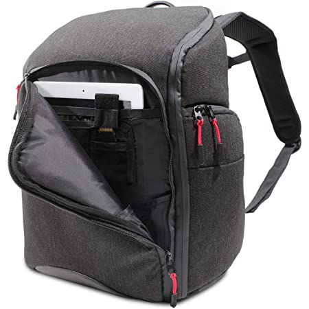 Canon Water-Resistant, Durable Camera Backpack/Case (EDC-1), Holds up to 1-2 DSLR or Mirrorless Camera Bodies & 2-3 Lenses with Inner Pocket for Tablet