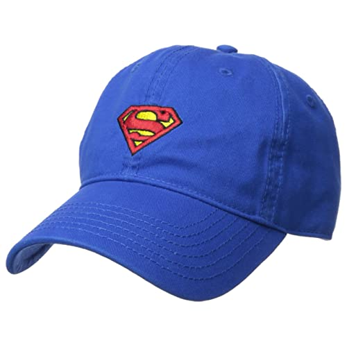 pretty nice 5ff8a ee2e3 DC Comics Men s Superman Baseball Cap, Washed Twill, Black Red Logo One Size