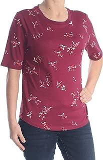 LAUREN RALPH LAUREN Womens Reggie Floral Short Sleeve T-Shirt