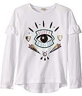 Kenzo Kids - Super Eye Ruffle Sleeve T-Shirt (Big Kids)