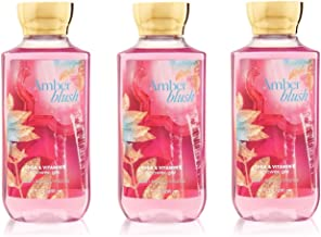 Lot of 3 Bath & Body Works Signature Collection Amber Blush Shower Gel 10 Fl Oz Each (Amber Blush)
