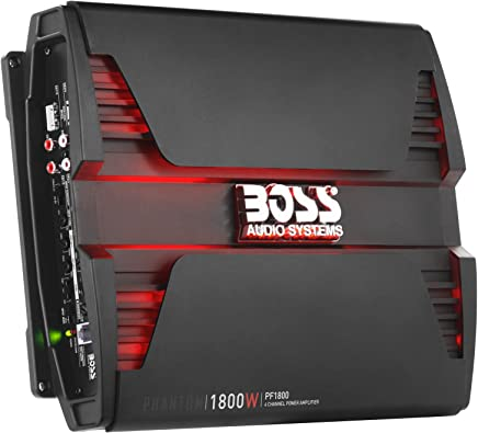 $95 Get Boss Audio Systems PF1800 Phantom 1800 Watt, 4 Channel, 2 4 Ohm Stable Class AB, Full Range, Bridgeable, Mosfet Car Amplifier with Remote Subwoofer Control