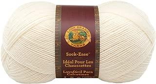 Lion Brand Yarn 240-100K Sock-Ease Yarn, Marshmallow