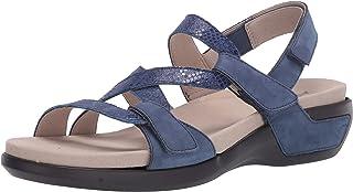 Aravon womens Power Comfort S Strap Sandal Blue Multi 7 Narrow