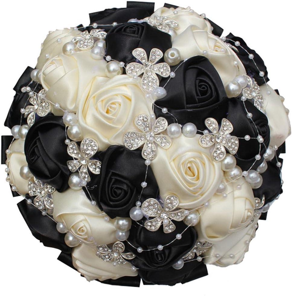 S-SSOY Hand Made Shining Crystal Silk Rhinestones Luxury goods Pearl Bri Max 90% OFF Rose
