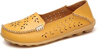 Women's Natural Breathable Walking Flat Loafer