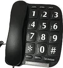 Large Button Telephone Black w/ Speakerphone And Light Up Ringer Indicator