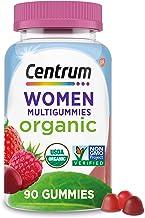 Centrum Women's Organic Multigummies Women's Multivitamin Gummies Organic Multivitamin for Women with Essential Nutrients ...