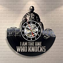 La Bella Casa I'm The One Who Knocks Series Vinyl Wall Clock Vintage Gift Best Gift Idea Sympathy Present Valentines Lover Stylish Boys Girls Teens Siblings
