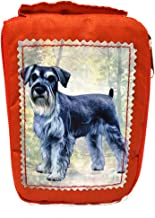 Schnauzer Foldable Tote Bag - Durable and Waterproof - Zippered Tote for Women - Amazing Art - Perfect for Schnauzer Owners