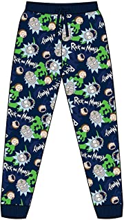Mens Official Rick & Morty Loungepants | Mens Loungewear All Over Print Pyjama Bottoms, Size Small - X-Large