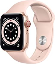 AppleWatch Series 6 (GPS + Cellular, 40mm) - Gold Aluminum Case with Pink Sand Sport Band (Renewed)