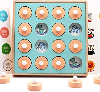 Portonss Kids Wooden Boxed Memory Chess Logic Thinking Children Brain Intelligence Development Puzzle 3-6 Years Old Teachi...