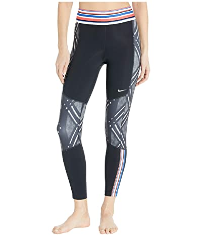 Nike Pro Tights 7/8 Print (Black/White) Women