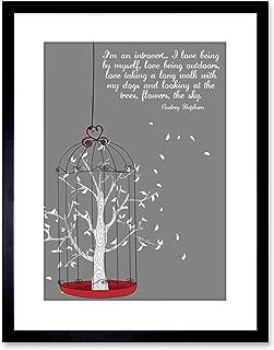 The Art Stop Quote Audrey Hepburn Introvert Outdoor Tree Framed Print F97X2725