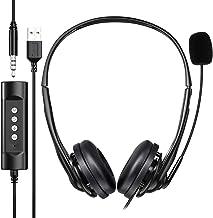 Newaner PC Headset, USB Headset/3.5mm Computer Headset, Stereo Sound Leicht Business..