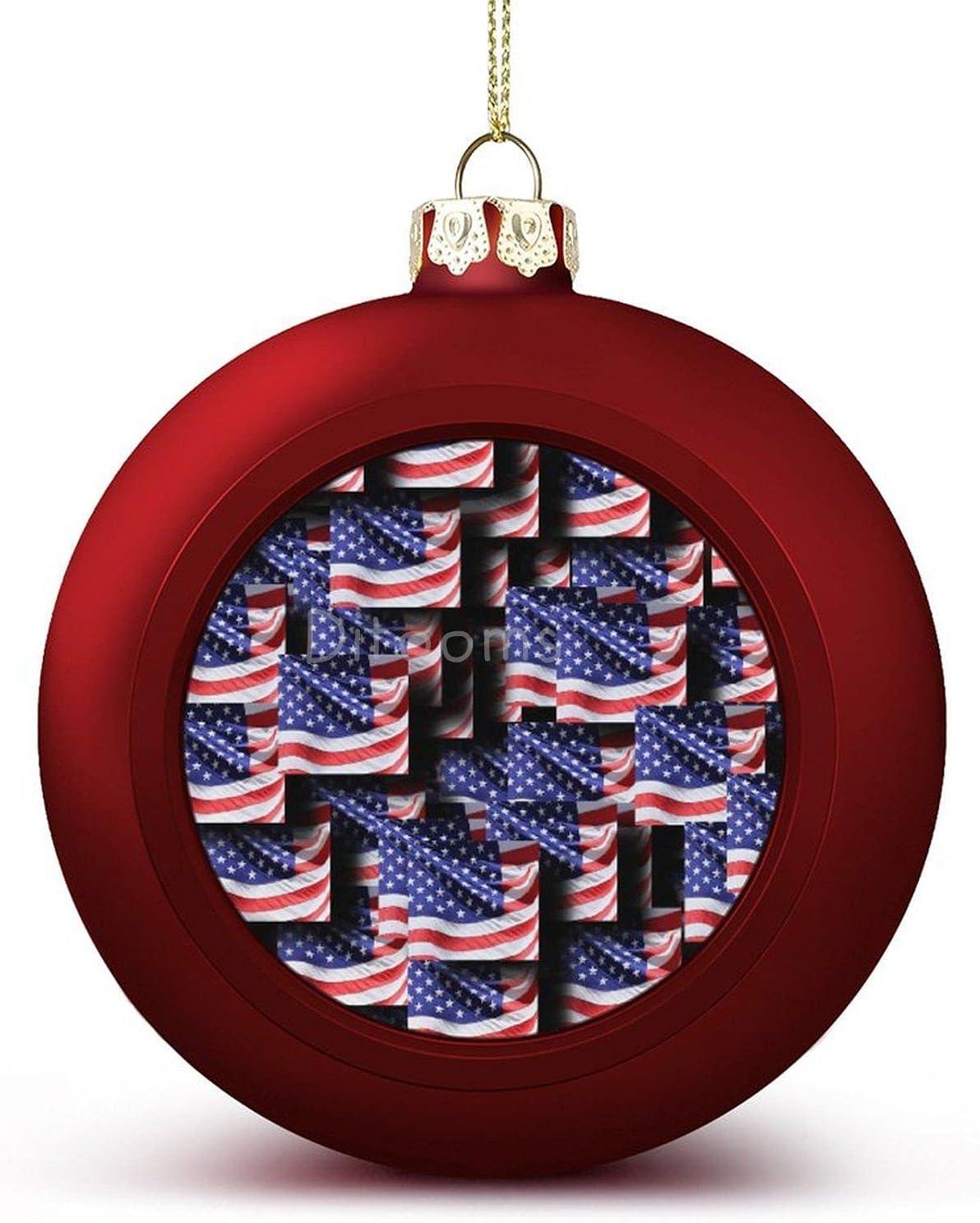 4PCS Christmas Balls OFFicial Ornaments Flag American Ch America Super-cheap USA
