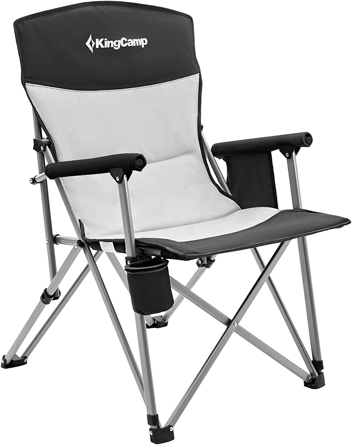 KingCamp Camping New product!! Chair Hard Arm Max 59% OFF Back High Camp Folding Erg