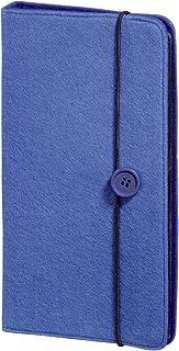 Hama CD Tasche Filz (für 48 Discs, CD / DVD / Blu ray / Hörbücher, Mappe zur Aufbewahrung, platzsparend für Auto und Zuhause, Transporthüllen) Blau