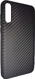 Huawei Y8p 2020 / Huawei Enjoy 10s Case Cover Carbon Fiber Design TPU Black Soft Slim Flexible Shock Absorbent Protective ...